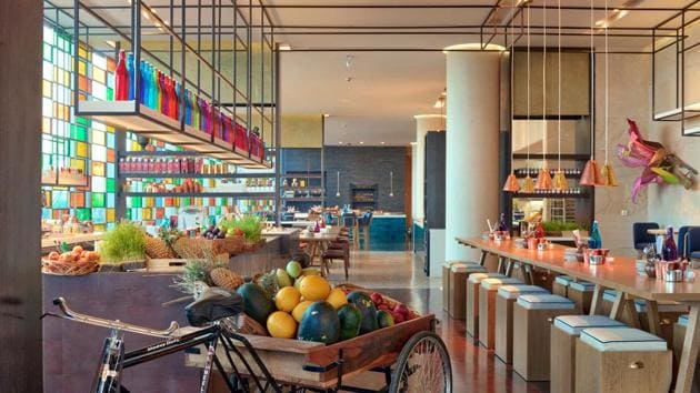 AnnaMaya, the restaurant at Delhi's new Andaz hotel, is a European-style food hall with retail and dining