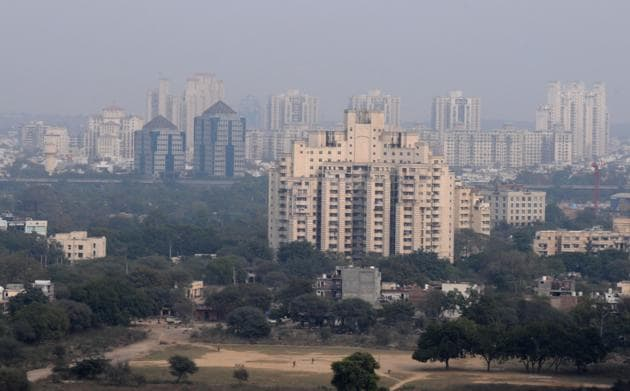 The air quality in Gurgaon slid to 'severe' several times in the last three months.(Parveen Kuar/HT Photo)