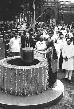 PG Bhaskar's book sometimes mimics a time capsule; a book version of the one that Prime Minister Indira Gandhi embedded at Red Fort on 15 August, 1973.(HT Photo)