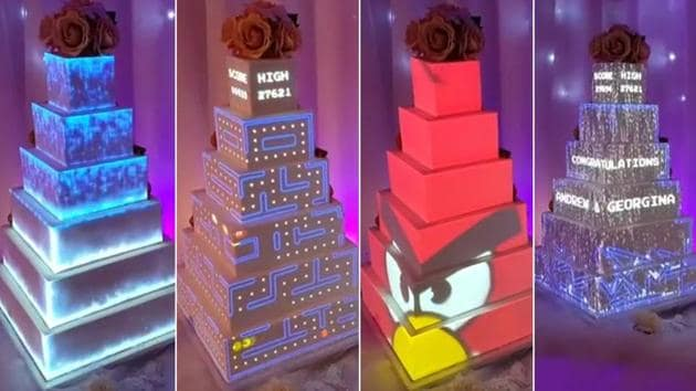 Wedding cake goes up a tier with digital decoration