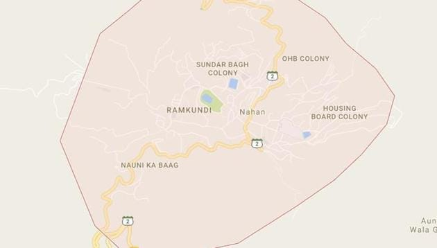 Map of Nahan in Sirmaur district(Goggle maps)