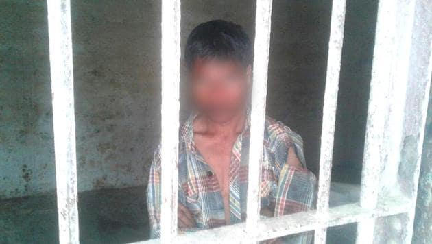 The accused Nazim Miyan was found with the body of the seven-year-old.(HT Photo)