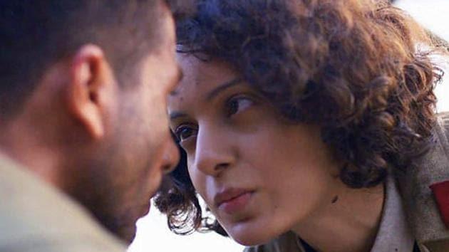 Kangana Ranaut, Shahid Kapoor and Saif Ali Khan form a love triangle in Rangoon.