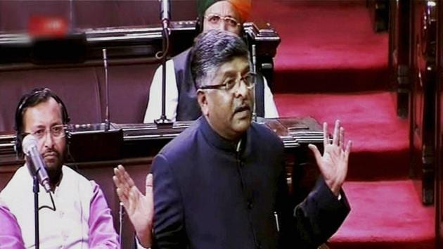 Union electronics and information technology minister Ravi Shankar Prasad on Thursday urged the visiting EU parliamentarians to open bigger doors for the Indian IT professionals.(PTI)
