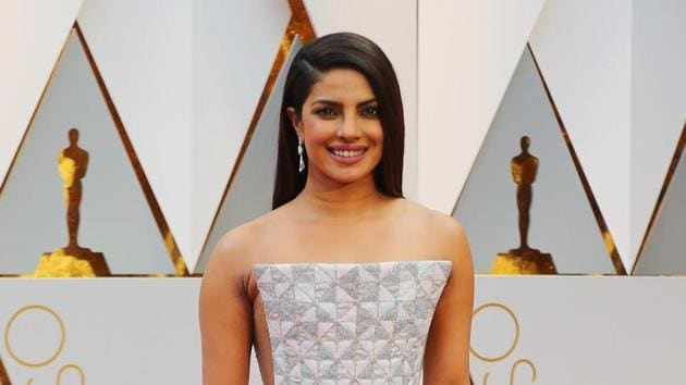 Actor Priyanka Chopra attended the 89th Academy Awards wearing a geometric Ralph & Russo gown.(Reuters)