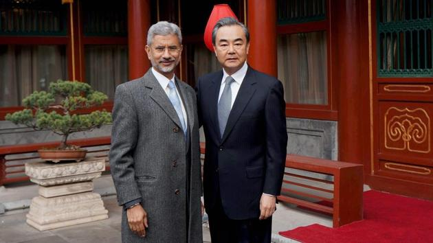 Foreign secretary S Jaishankar with Chinese foreign minister Wang Yi , Beijing, February 22, 2017(PTI)