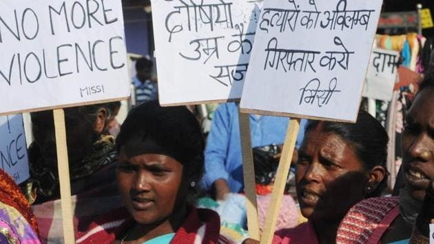 The fresh data shows that MP continued to be one of the most unsafe places for women in the country even though the number of sexual assault cases came down from 12 rapes each day in 2015 and 14 every day in 2014.(HT File Photo)