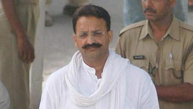 Gangster Mukhtar Ansari occupies the top slot not for the maximum number of cases.(Live Mint File Photo)