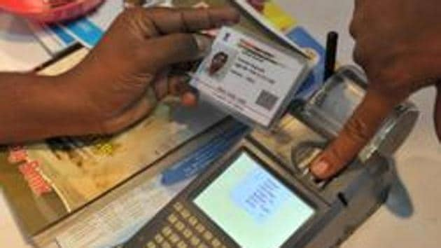 The Aadhaar card registration has on file a person's biometric details such as thumbprint and iris scan.(AFP File)