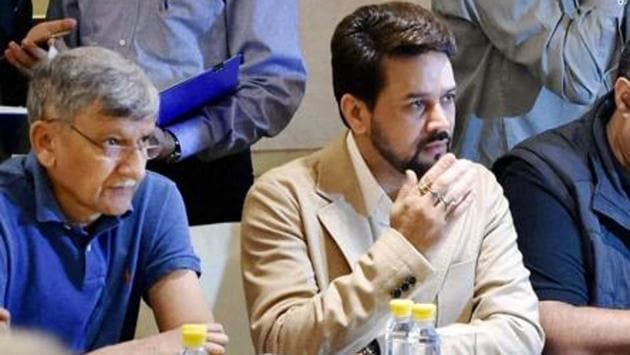 Anurag Thakur was removed as BCCI president in January 2017 by the Supreme Court for consistently stalling the implementations of the Justice Lodha panel reforms.(PTI)