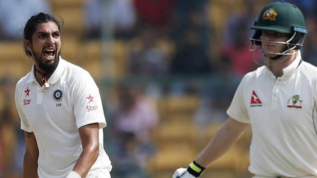 Ishant Sharma's banter with Australia captain Steven Smith (right) on Sunday made quite a few headlines.(AP)