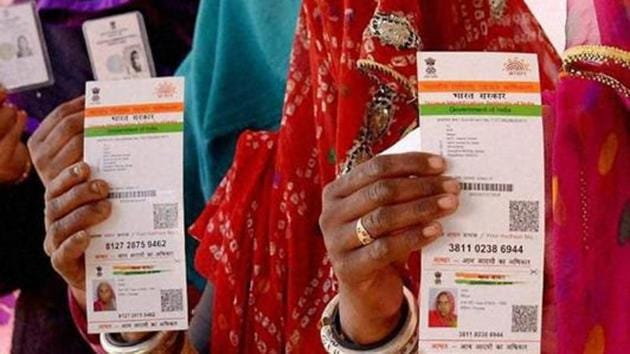 Aadhaar Pay will also eliminate the fee charged by private card companies such as MasterCard and Visa.(PTI file photo)