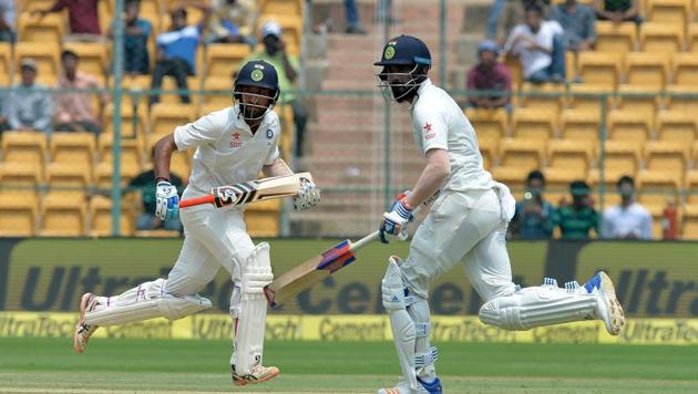 KL Rahul smashed 90 and 51 as he won the Man of the Match in the Bangalore Test versus Australia as India levelled the series 1-1.(AFP)
