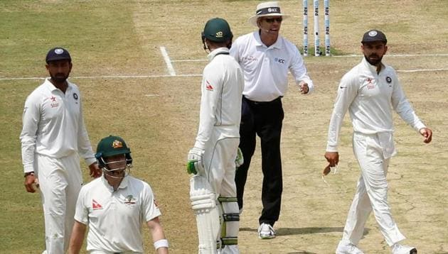 """Australia captain Steve Smith is a """"role model"""" and allegations that he and his team flouted the rules when deciding whether to review decisions during the second test against India are """"outrageous"""", Cricket Australia (CA) said on Wednesday. Incensed India captain Virat Kohli accused Smith of 'crossing the line' on Tuesday when he was given out lbw but looked towards the players' area in the Bengaluru stands as he mulled over using the Decision Review System. Now the cricket boards of India and Australia are at war and wants ICC to adjudicate on the issue. This is the video that triggered it all. (Video courtesy: BCCI)"""