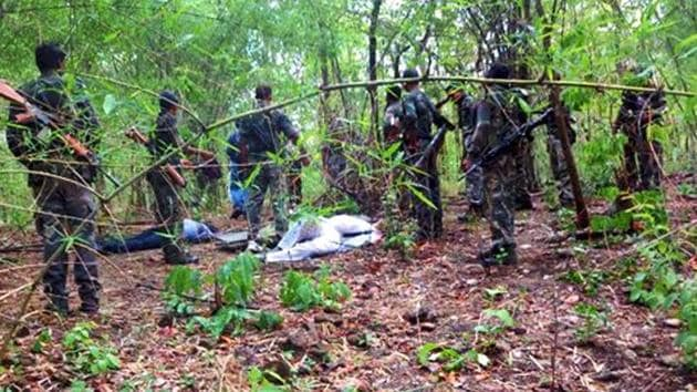 Four bodies of the Maoists were recovered from the encounter site in the interiors of Banskatwa, 200 km from Patna.(PTI file photo)