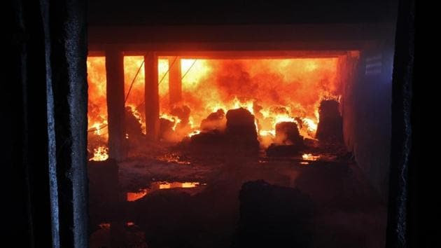 The fire was possibly caused because of some chemical reactions going wrong in the mixing unit.(HT/ Representative Photo)