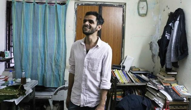 Umar Khalid's invitation to the 'The Culture of Protest' seminar in Delhi University's Ramjas College in February had set off violent protests on the campus.(Mayank Austen Soofi)