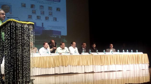 Union Minister for urban development M Venkaiah Naidu inaugurates India's largest waste to energy plant at Civic Centre.