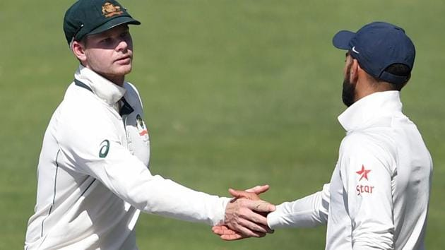 Indian captain Virat Kohli and Australian captain Steve Smith have had a torrid relationship in the Test series so far.(PTI)