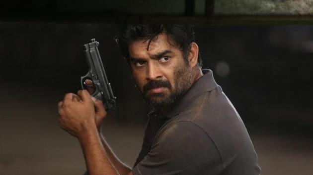 Madhavan plays a cop chasing a gangster in Tamil film Vikram Veda.