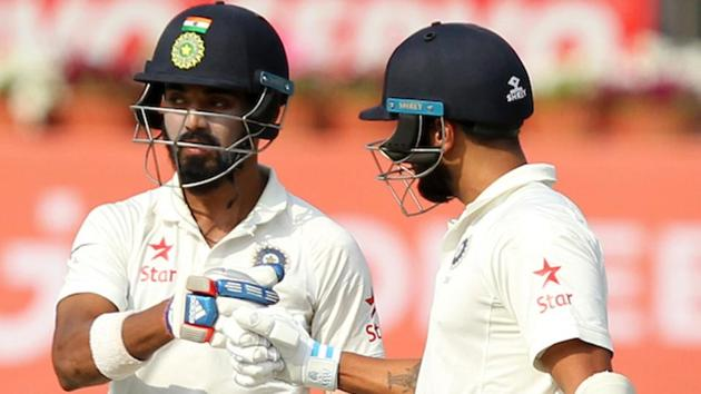 Murali Vijay and KL Rahul during the second day of the third Test match between India and Australia in Ranchi. Catch highlights of India vs Australia 3rd Test Day 2 here.(BCCI)