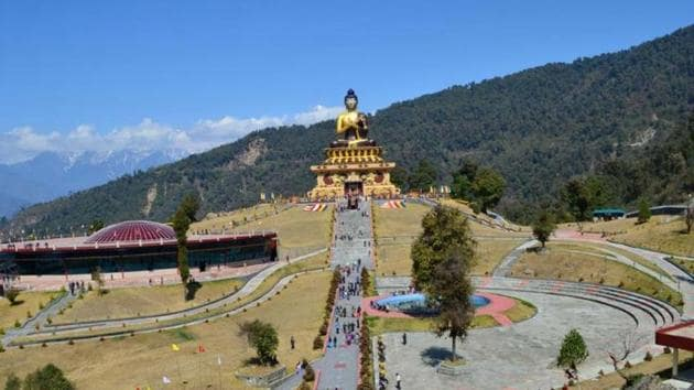 The Buddha Park in Sikkim. Stories of drugs and suicide attempts are not ones India associates with the northeastern, landlocked former monarchy of Sikkim, often termed the golden state for its run of progress after its integration into India in 1975.(IANS File Photo)