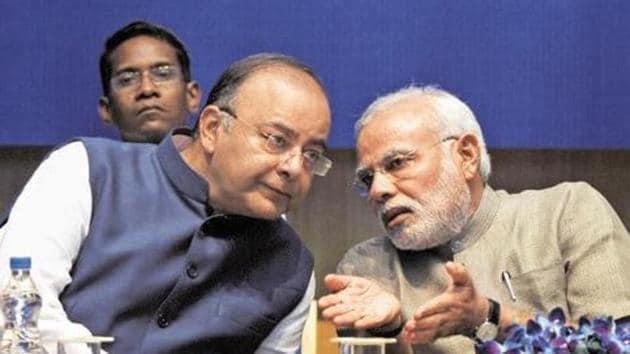 Prime Minister Narendra Modi and finance minister Arun Jaitley(HT photo)