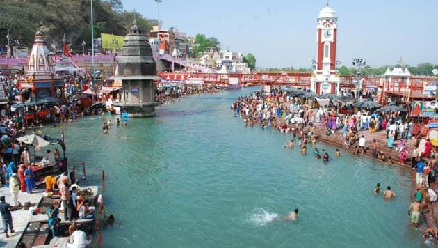 """Earlier this month, the Uttarakhand high court came down heavily down upon the Union and the state governments for doing """"nothing concrete"""" to clean the Ganga.(HT file photo)"""