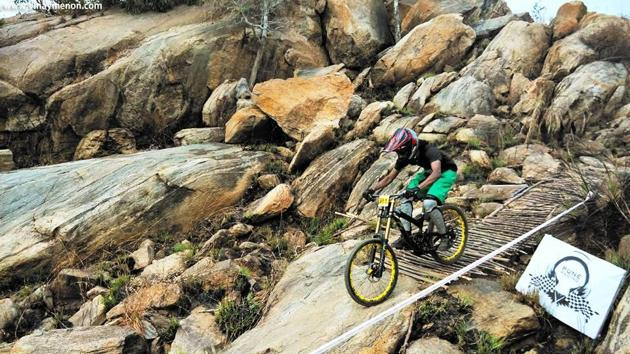 Mountain bike rider Vinay Menon focuses on safety gear to avoid accidents.(Photo courtesy: The Vibe)