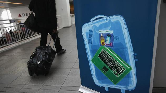 The US has banned electronic devices such as laptops or cameras on board flights from at least 10 Muslim-majority nations.(AFP file photo)