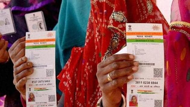 When the BJP was in Opposition, senior party leaders relentlessly targeted Aadhaar and dubbed it as a fraud scheme, asking questions about its security.(PTI File Photo)