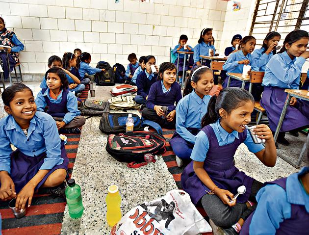 During a recent survey conducted by the department, it was found that 26,000 students remained absent for two years, at different points of time.(Sushil Kumar/HT PHOTO)