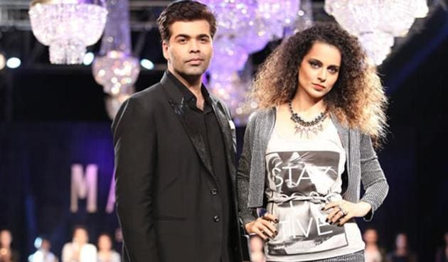 Kangana Ranaut and Karan Johar have locked horns over the actor's statement on nepotism in Bollywood.