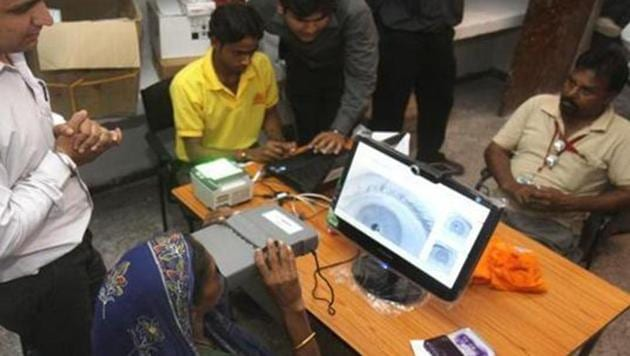 The journalist, who works with a news channel, had in a sting operation showed that one could get an Aadhaar enrolment receipt by submitting forged details.(HT File Photo)