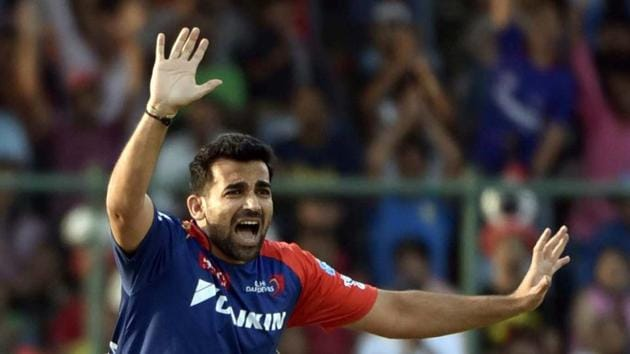 New Delhi , India - April 23, 2016:DD plater Zaheer Khan against MIduring IPL league match at Ferozshah Kotla in New Delhi , India, on Saturday, April 23, 2016. (Photo by Vipin Kumar / Hindustan Times)(Hindustan Times)