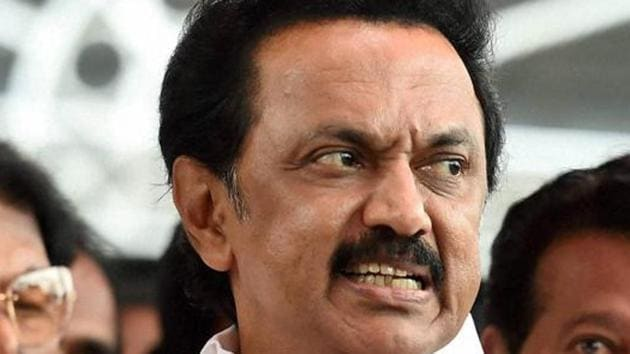 DMK working president and leader of opposition in Tamil Nadu, MK Stalin.(PTI File Photo)