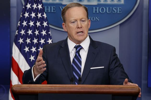 White House press secretary Sean Spicer recently came under fire after he asked a radio journalist to stop shaking her head when she looked dissatisfied by his response to her questions.(AP)