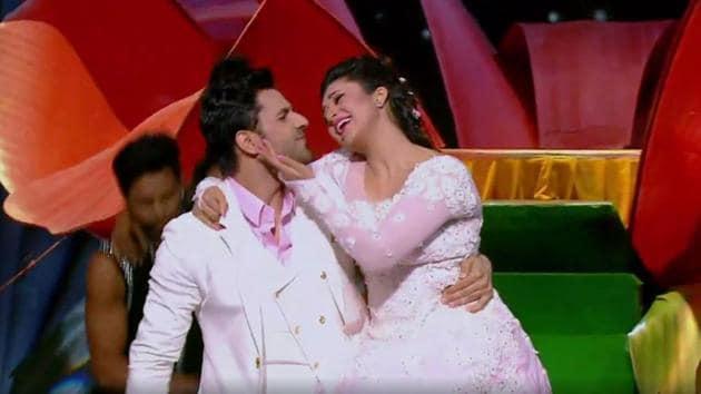 Divyanka Tripathi and Vivek Dahiya on Nach Baliye Season 8.(Hotstar)