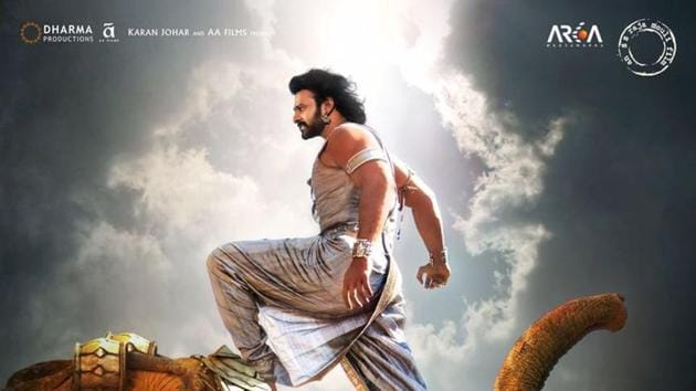 Prabhas on a poster of Baahubali 2 The Conclusion.