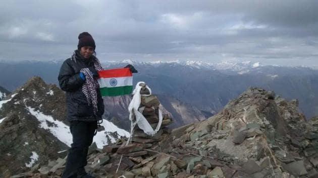 Sabita Mahto awaits sponsorship to realise her dreams of scaling Mount Everest.(Phto courtesy: Sabita Mahto)