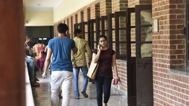 Delhi University's Miranda House has been ranked India's top college.(HT File Photo)