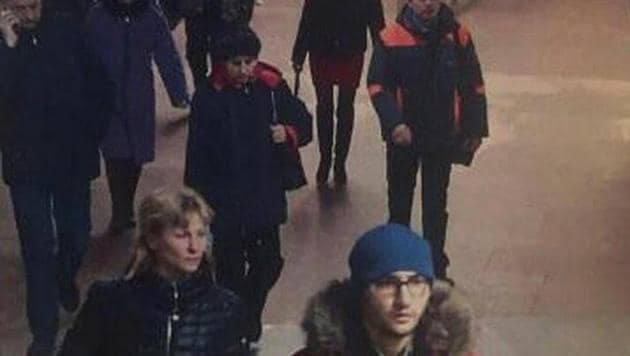 A still image of suspect Akbarzhon Jalilov walking at St Petersburg's metro station is shown in this police handout photo obtained by 5th Channel Russia.(5th Channel Russia/via Reuters)