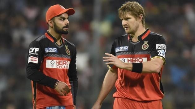 Shane Watson will lead Royal Challengers Bangalore in the first few games of the 2017 Indian Premier League after injuries to Virat Kohli and AB de Villiers.(Hindustan Times)