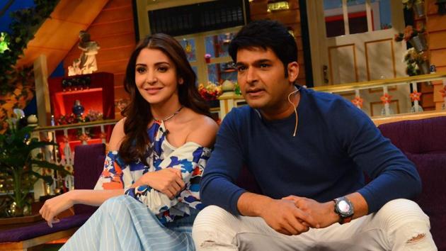 Anushka and Kapil Sharma during the promotion of Phillauri on The Kapil Sharma Show.(IANS)