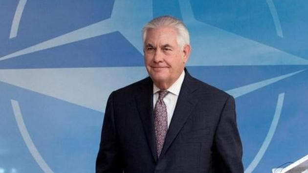 File photo of US secretary of state Rex Tillerson at a NATO foreign ministers meeting at the alliance's headquarters in Brussels, Belgium on March 31, 2017.(Reuters)