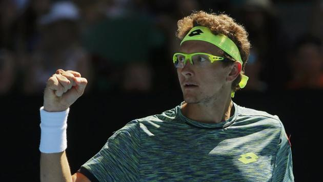 Denis Istomin, who defeated Novak Djokovic in the Australian Open, has been ruled out for Uzbekistan's Davis Cup game against India due to a foot injury.(REUTERS)