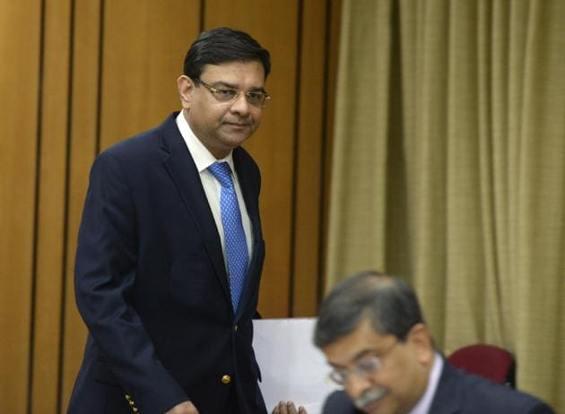 Reserve Bank of India (RBI) Governor Urjit Patel arrives to address a news conference in Mumbai on April 6, 2017.(AFP)
