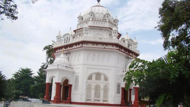 The Saragarhi memorial gurdwara that was built in 1924 at Ferozepur by the Britishers in appreciation of the supreme sacrifice of the Sikh soldiers.(HT Photo)