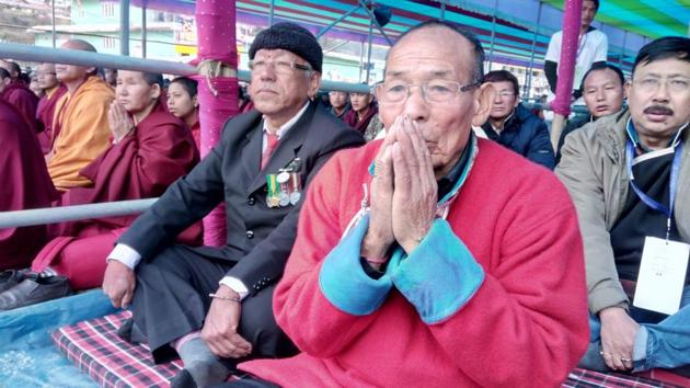 The two met last week, soon after the Dalai Lama was driven into the Lower Bomdila Monastery, about 180km from Tawang on the road to Assam.(HT Photo)