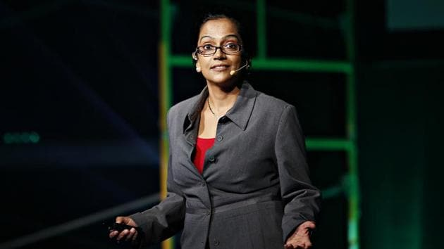 Mona Datt (in picture) has a background in computer engineering and got the idea that led to founding of Loom Analytics when her lawyer husband asked her if tedious legal tasks could be eased.(HT Photo)
